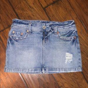 🔥4/$20 Women's American eagle skirt 0 blue jeans
